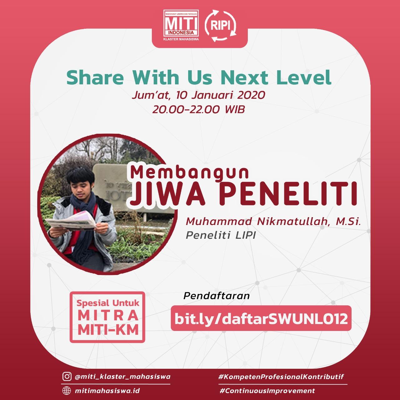 Read more about the article Membangun Jiwa Peneliti