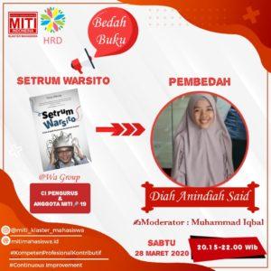 """Read more about the article Bedah Buku """"Setrum Warsito"""" – Warsito dan Setrumnya untuk Senyum Indonesia"""