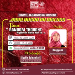 Read more about the article Random Thought: Ngobrolin Hidup Hari Ini