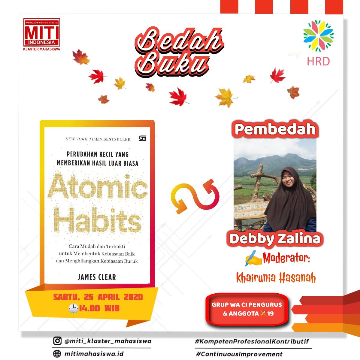 Read more about the article Bedah Buku Atomic Habits
