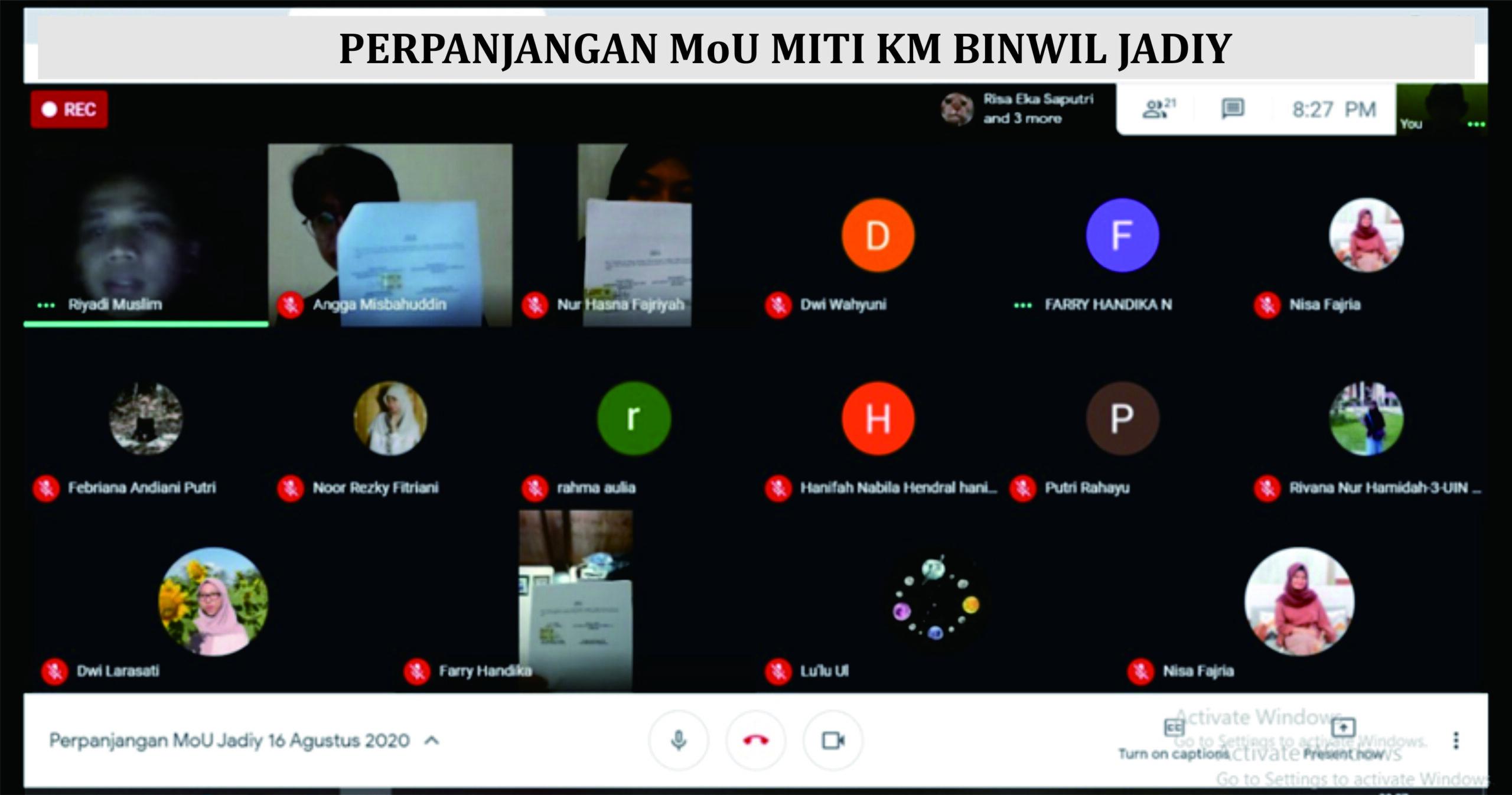 You are currently viewing Perpanjangan MoU MITRA MITI KM JADIY